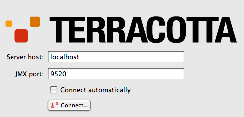Terracotta Developer Console Connection Panel