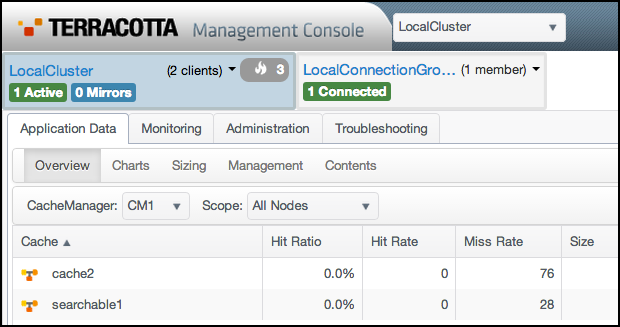 IMAGE: The Terracotta Management Console User Interface